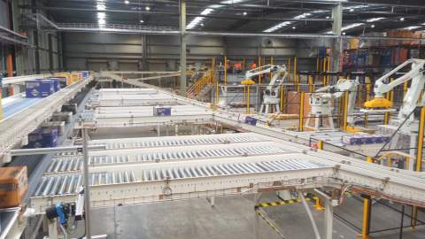 SAP Interface and Wonderware SCADA for a Palletising System